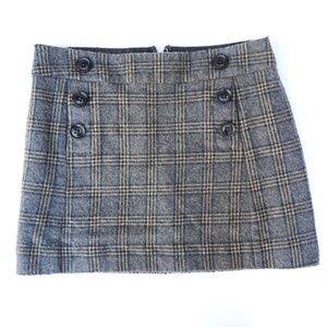 Gap plaid mini skirt (with pockets!)